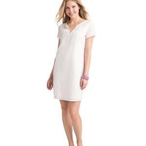 Vineyard Vines White Mini Beaded Tunic Dress NWT